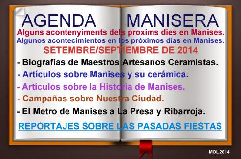 AGENDA MANISERA SEMANA 39 DE 2014