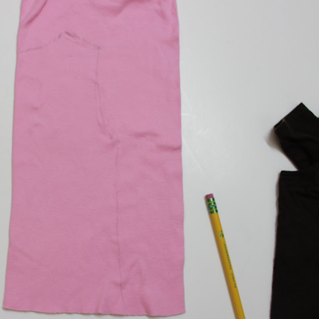 cutting out dress bodice