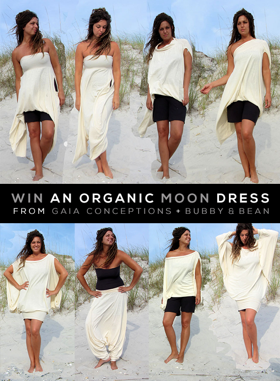 GIVEAWAY // Win an Organic Moon Dress from Gaia Conceptions from Bubby and Bean!