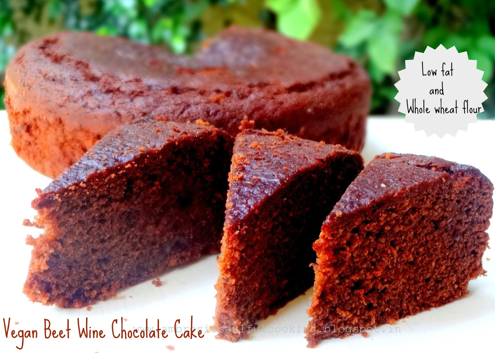 AMBROSIA: Vegan Beet Wine Chocolate Cake (Whole Wheat) | Vegan Baking