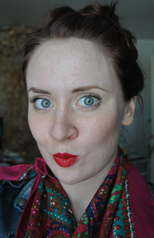 makeup photo a day, red lipstick, chanel red lipstick