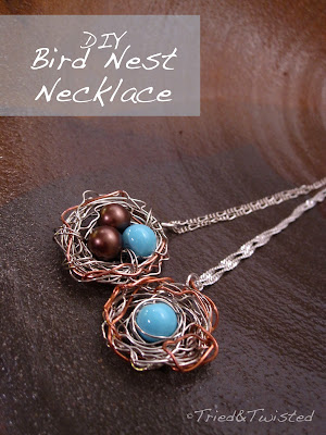 DIY Bird Nest Necklace: Tried&Twisted