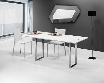 Mesas de comedor por la decoradora experta 5 mesas for Mesas para espacios pequenos
