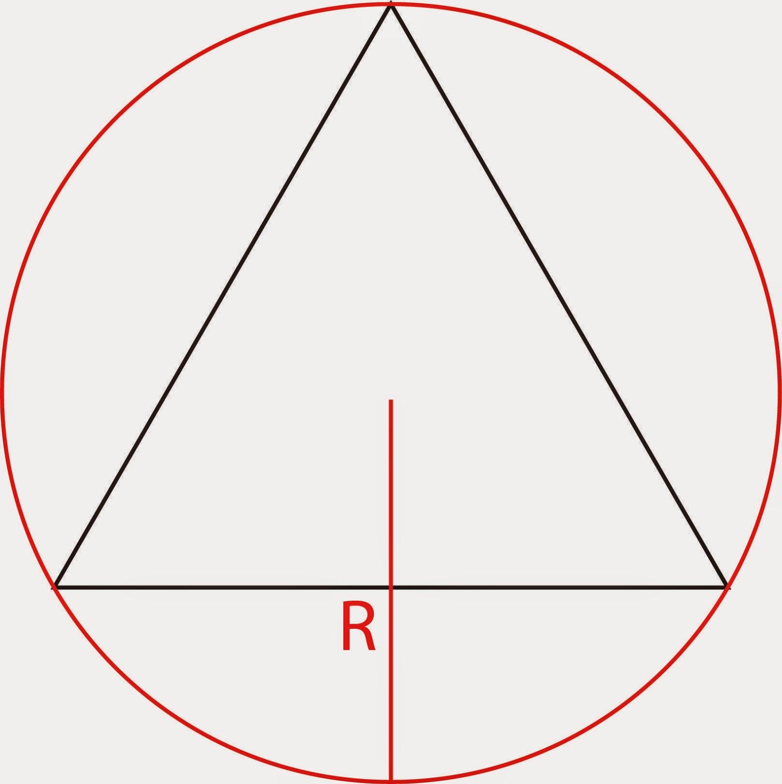 """Circumcircle with circumradius """"R"""""""