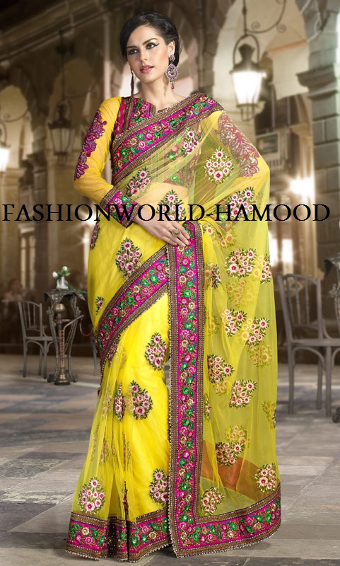 Full net full zari moti work buti and raw silk zari cut work heavy ...