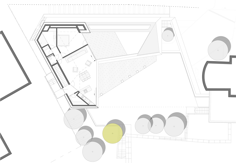 First floor plan of Ultra Modern House by architekti.sk, Slovakia