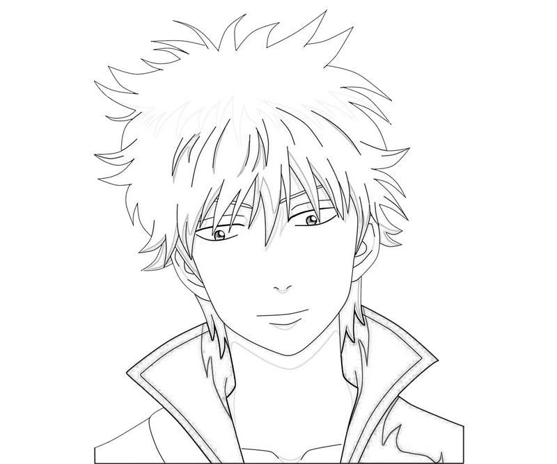 sakata-gintoki-face-coloring-pages