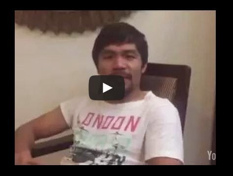 Pacquiao interview after fight with mayweather announcement