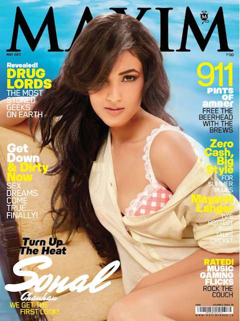 Sonal Chauhan sizzles in Maxim Cover - May 2011