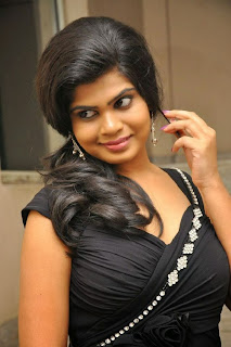 Actress Alekhya Pictures in Black Dress at Anandam Malli Modalaindi Movie Audio Launch Function  0004.jpg