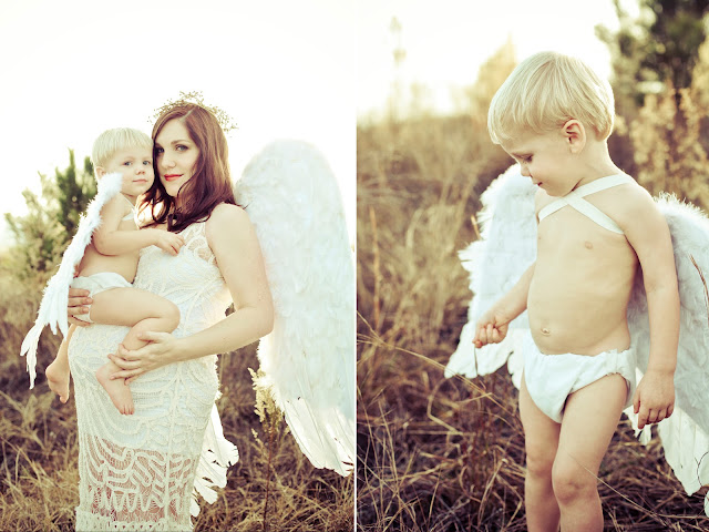 Angels on Earth - A maternity and mother/son portrait. Kelly Is Nice Photography | www.kellyisnice.com