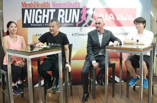 Malaysia's Largest Night Run Series 2016, Men's Health Women's Health Night Run, Malaysia Night Run, Malaysia running series
