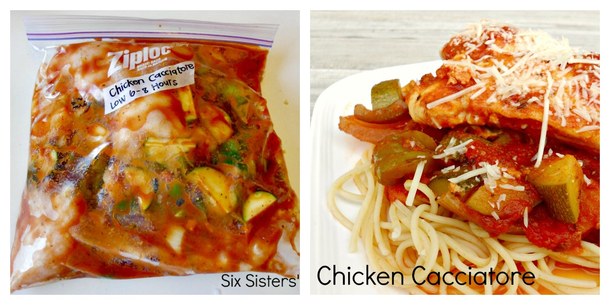 Chicken Cacciatore from SixSistersStuff.com