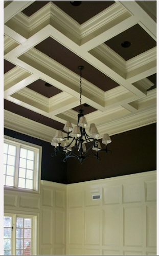 Living quarters on a dime diy restoration hardware zinc for Average cost of coffered ceiling