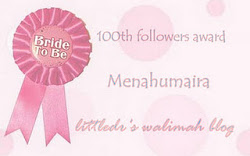 Award 100th Follower by Miza (Littledr'swalimah blog)