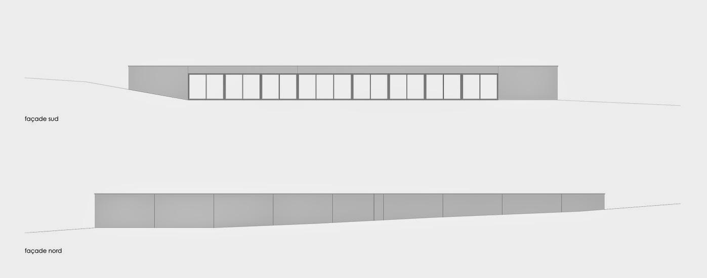 Plano de arquitectura de dos alzadas de la residencia
