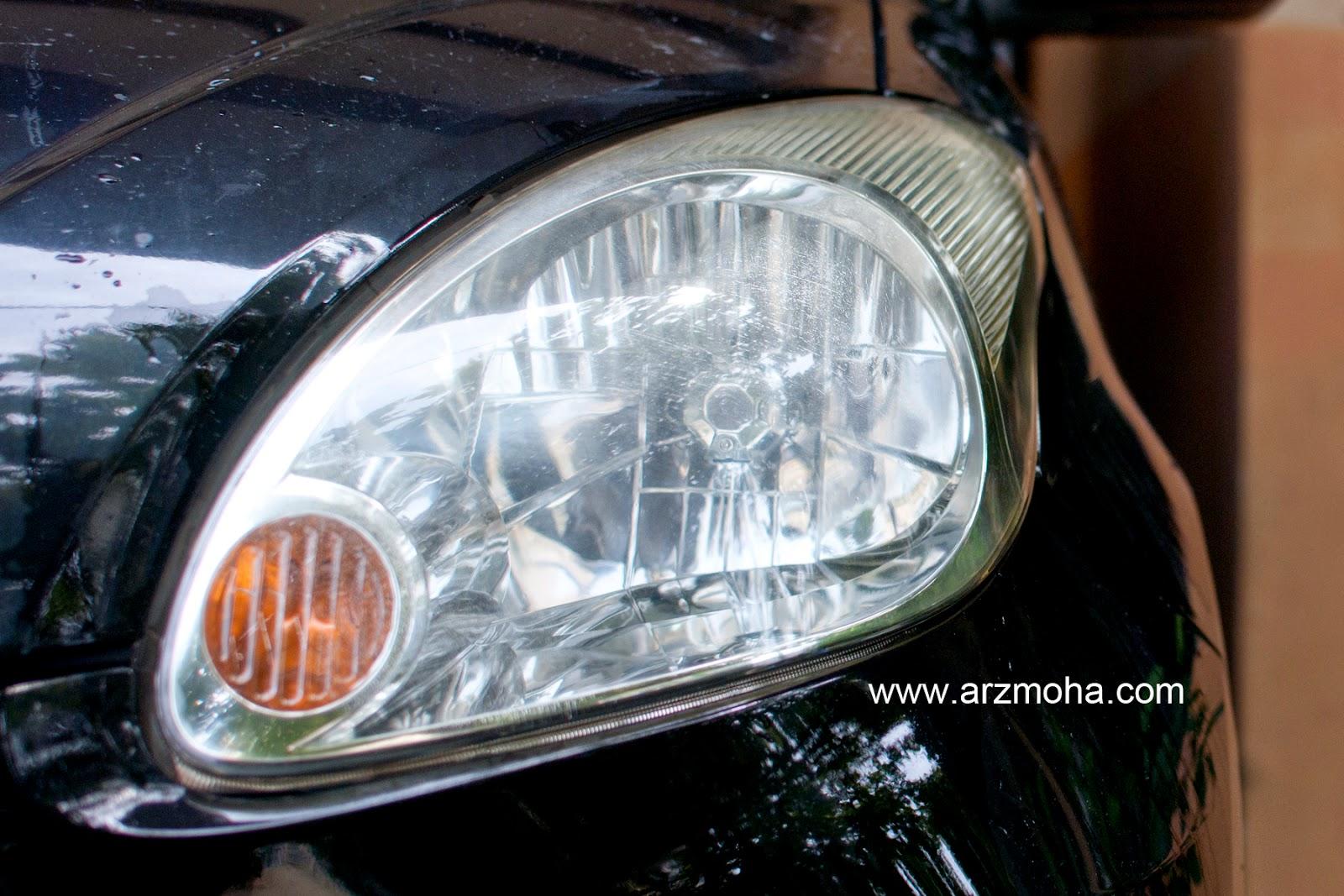 lampu kereta, putihkan, cuci, lampu pudar, lampu malap, arzmoha, gambar cantik