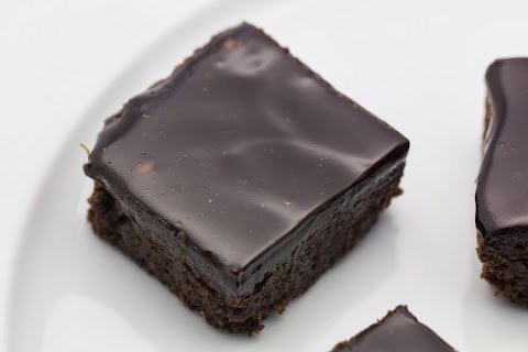 Licorice Brownies with Licorice Chocolate Fudge Frosting
