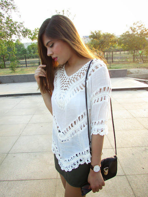 lalalilo, fashion, boho outfit, boho style, white summer top, Crochet Lace Top, white crochet top, how to style white crochet top, how to style mini skirt, summer fashion 2015, indian fashion blog, boho top,white summer top, summer outfit inspiration, how to style loose boho top, cheap summer top, online, summer 2015 fashion trends, indian fashion, asian fashion, outfit for delhi summer, outfit fo r super hot day, how to style lace top, how to style lace top with mini skirt, mini denim skirt, lalalilo review, beauty , fashion,beauty and fashion,beauty blog, fashion blog , indian beauty blog,indian fashion blog, beauty and fashion blog, indian beauty and fashion blog, indian bloggers, indian beauty bloggers, indian fashion bloggers,indian bloggers online, top 10 indian bloggers, top indian bloggers,top 10 fashion bloggers, indian bloggers on blogspot,home remedies, how to