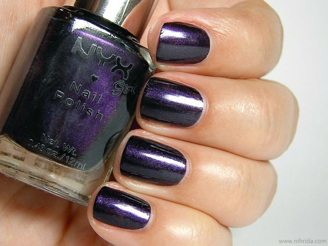 NYX Girls Nail Polish in Purple Noir