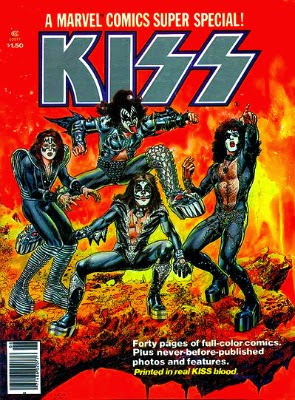 kiss comic blood