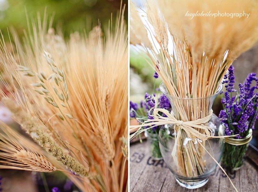 wheat in bouquet photo