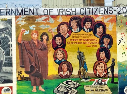 Republican Murals in Belfast, Northern Ireland.