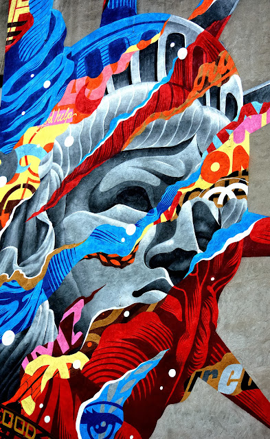 """Liberty"" New Street Art By Tristan Eaton For The Lisa Project In New York City, USA. 3"