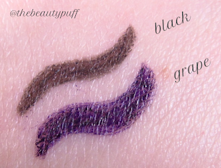 skone cosmetics tattooed eyeliner swatches - the beauty puff