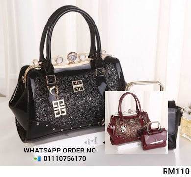 MULTI FUNCTION BAG - BLACK , MAROON