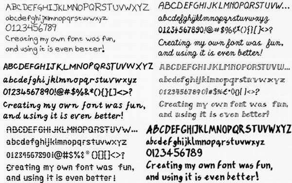 Make Handwriting Font