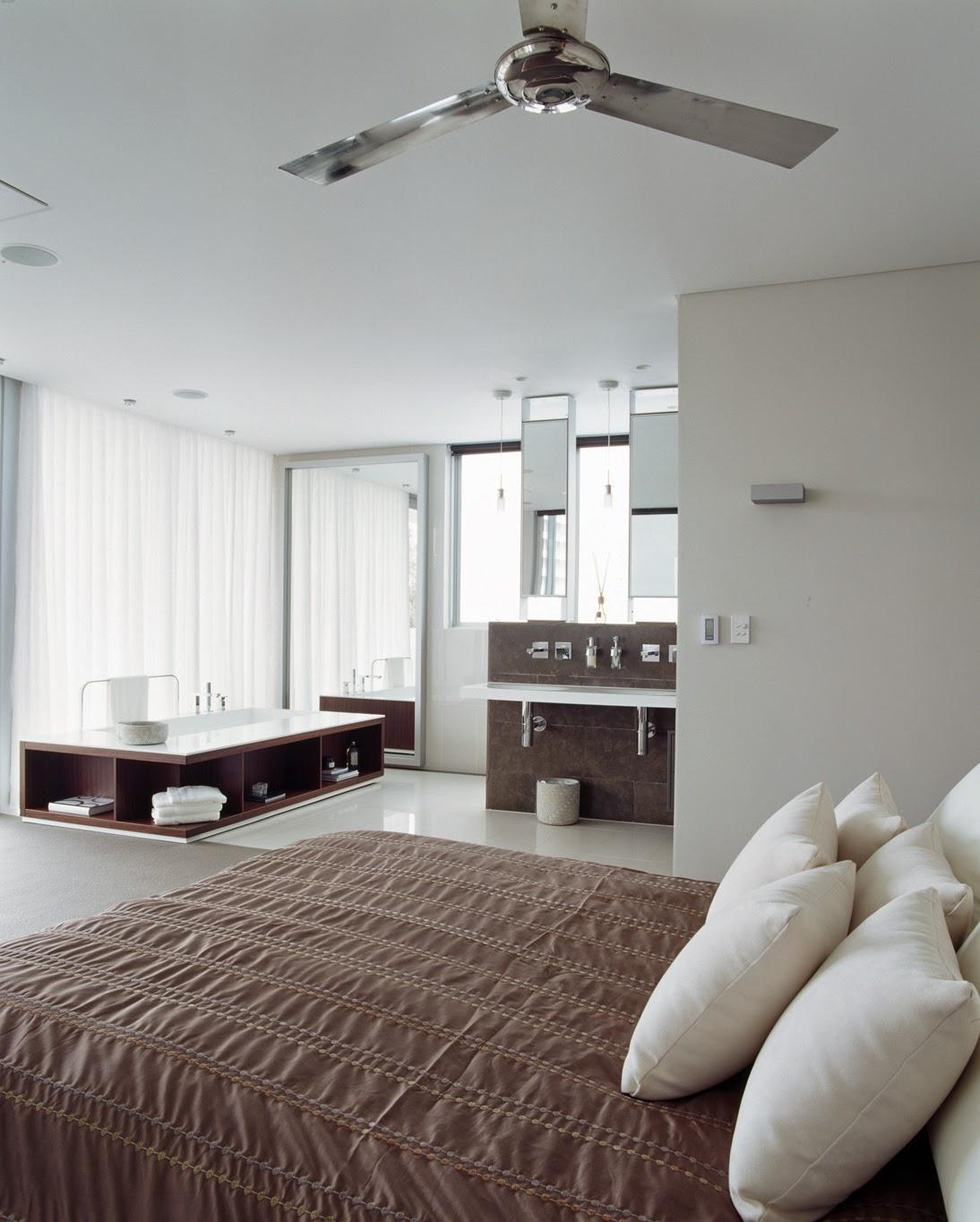 desain inspirasi kamar mandi dalam kamar tidur modern