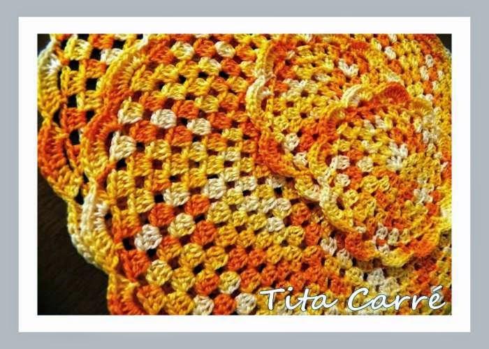 Sousplat em crochet Yellow
