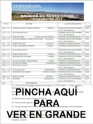 CALENDARIO SALIDAS DE SENDERISMO