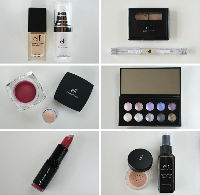 elf spring make-up look products