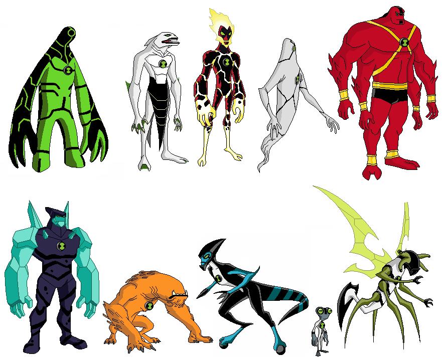 Omnitrix y mis dibujos - Ben 10 tous les aliens ...