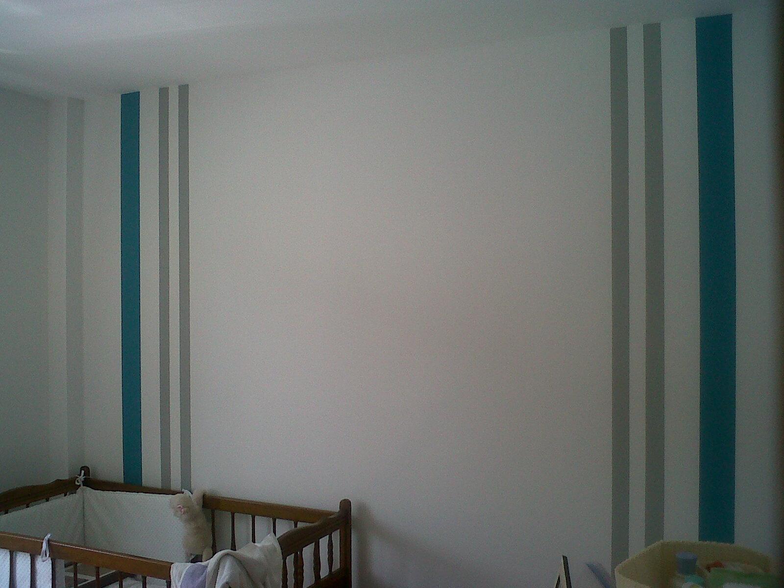 Pinturas aguado s l pintado de rayas en dos colores - Colores habitacion nino ...