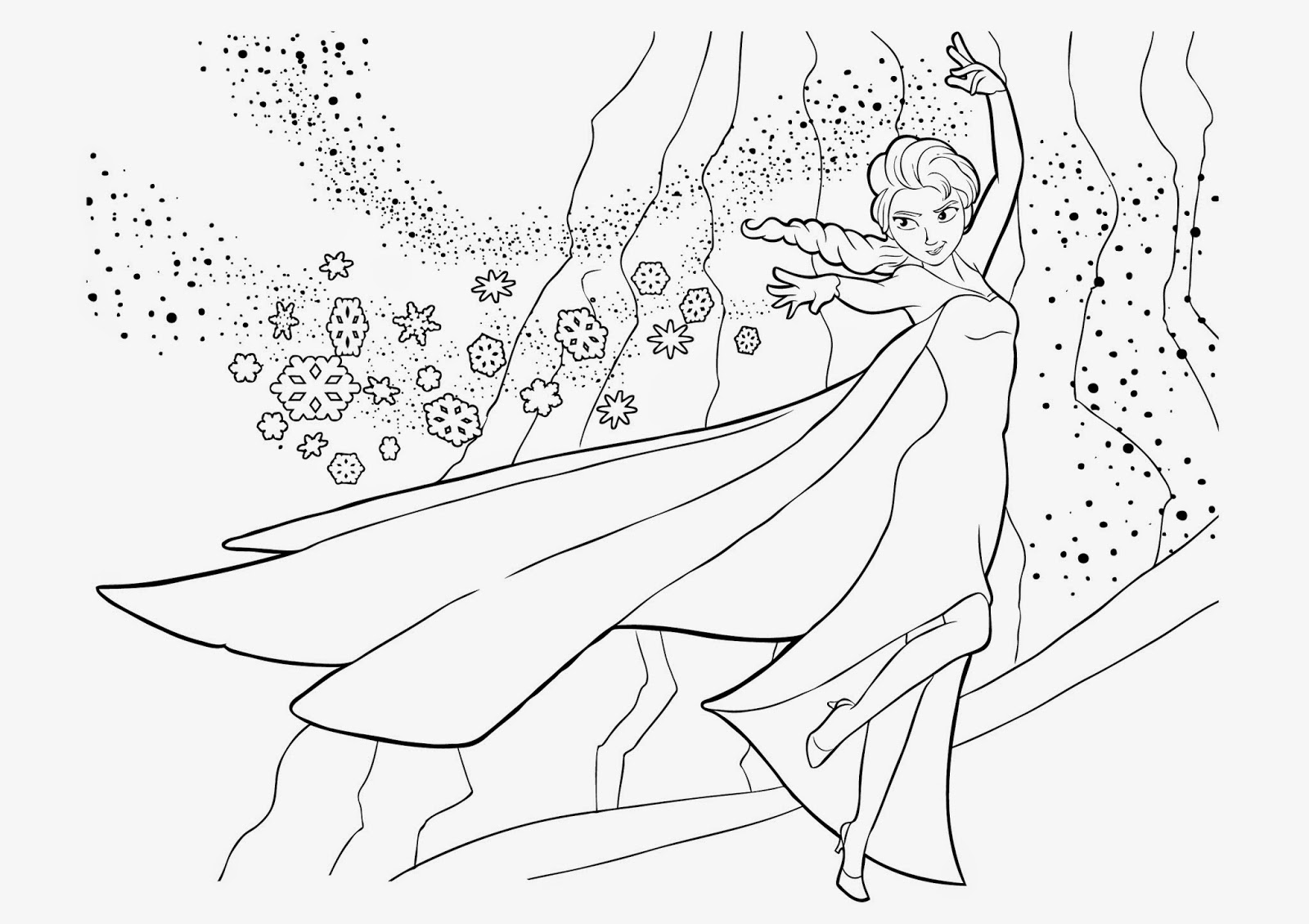 4 Beautiful Elsa Coloring Pages To Print Instant Knowledge