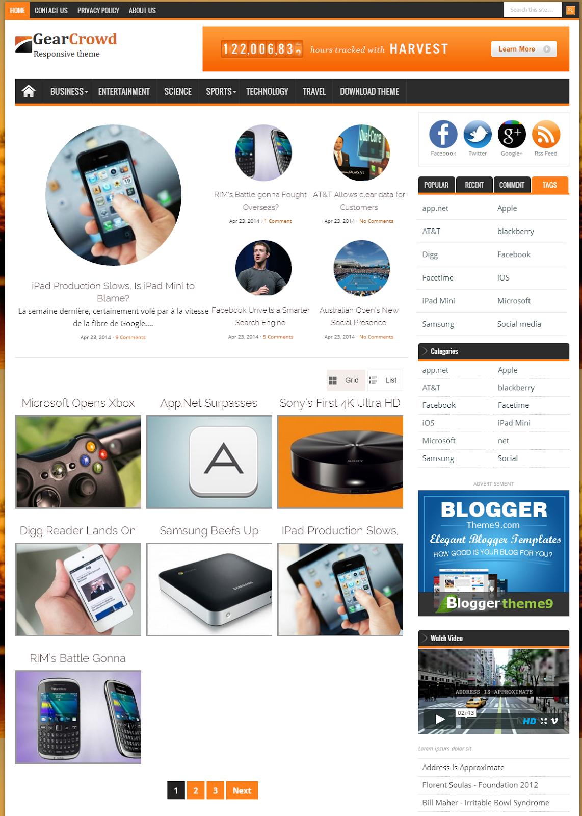 Share GearCrowd Blogger Template