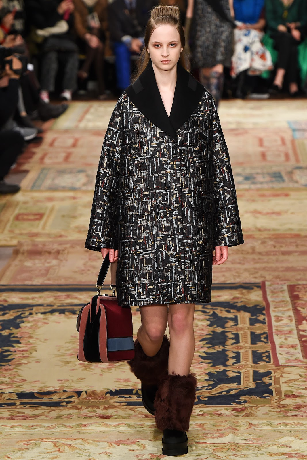 Brocade trend on AW 2015 runway at Antonio Marras / via www.fashionedbylove.co.uk