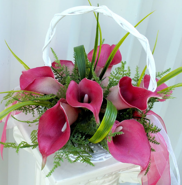 Flower Girl Baskets Canada : Bride in bloom calla lily flower girl basket