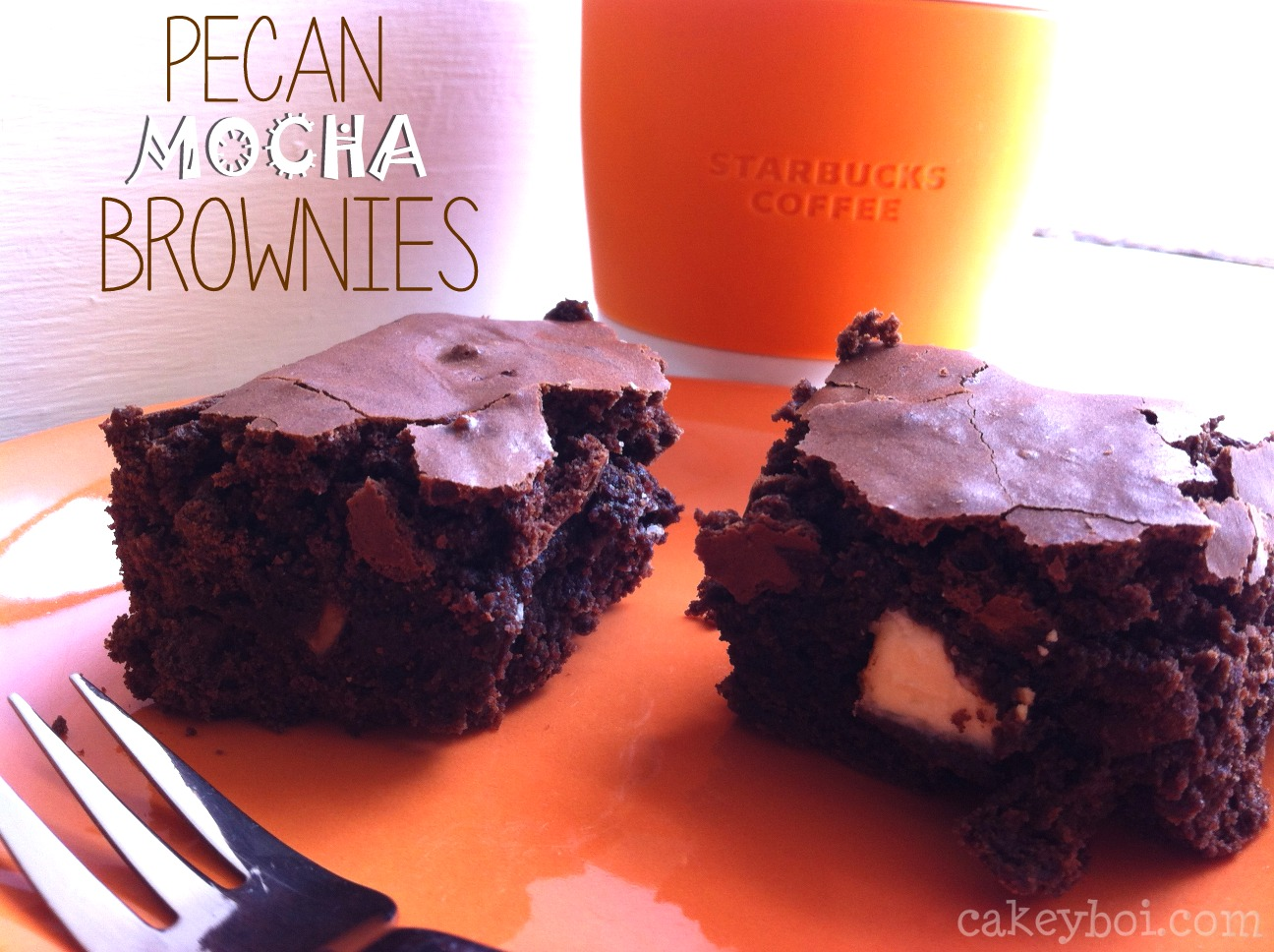 Mocha Brownies with Starbucks Via