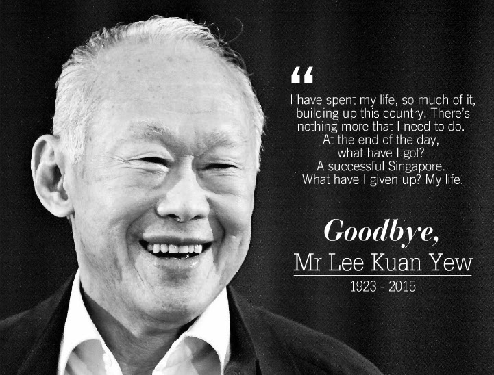 PM: The first of our founding fathers is no more. He inspired us, gave us courage, and brought us here. To many Singaporeans, and indeed others too, Lee Kuan Yew was Singapore.