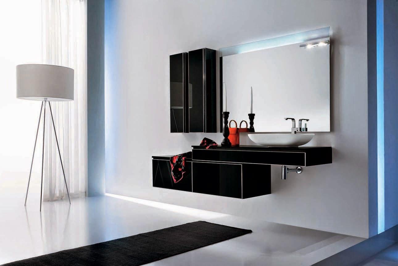 Banheiros modernos 19 modelos. Confira! Decor Alternativa #2667A5 1290 861