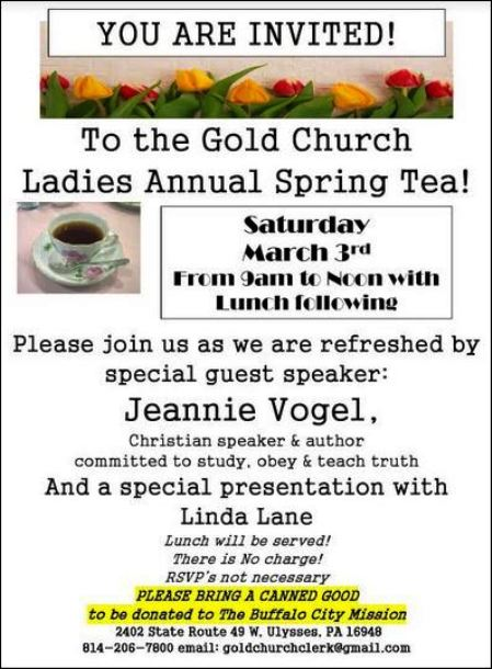 3-3 Ladies Tea, Gold Church