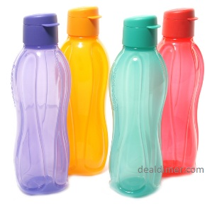 Tupperware Fliptop Bottle 4 pcs Set