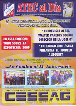 Revista del Área de EPT, editada todos los años en la SEMANA DE LA EDUCACIÓN PARA EL TRABAJO