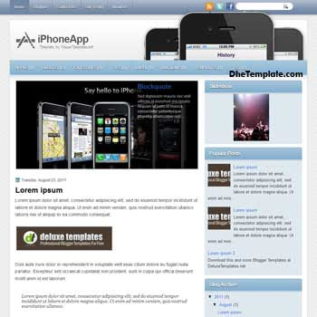 iPhoneApp blogger template. template blogspot magazine style. iphone style blogger template
