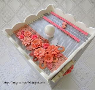 Caixa MDF flores porcelana fria