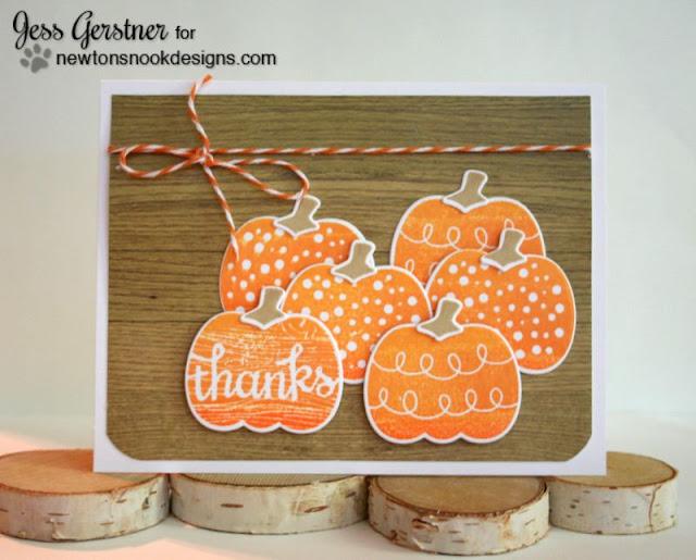 Fall Pumpkin Card by Jess Gerstner using Newton's Nook Designs Pick a Pumpkin